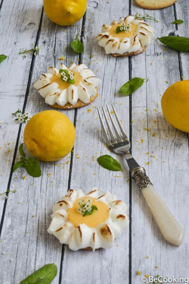 Sablés con crema limón