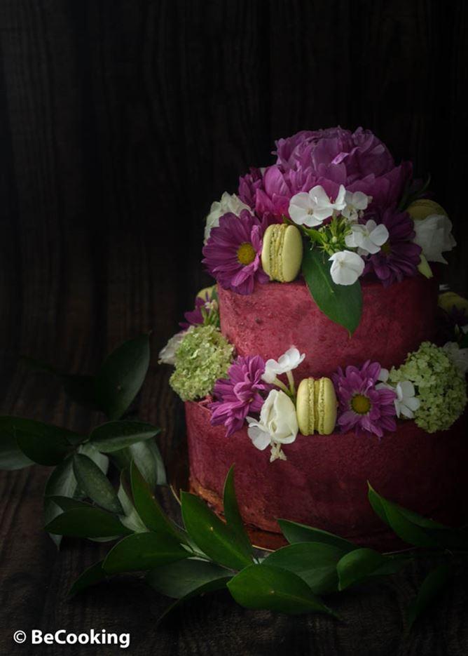 Tarta de Frambuesas y Rosas