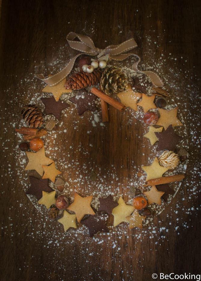 Estrellas de vainilla, chocolate y jengibre