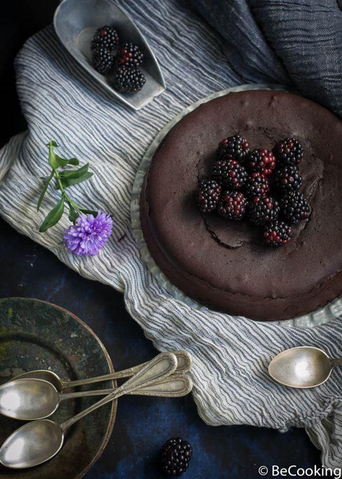 Bizcocho cremoso de chocolate