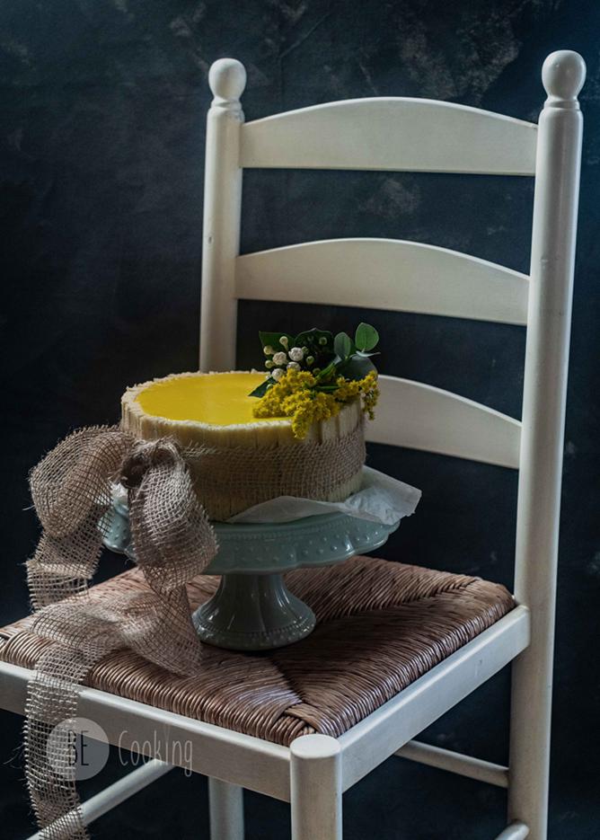 Tarta de lima, limón y té