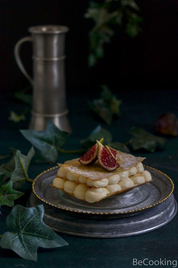 Milhojas de Higos y mascarpone