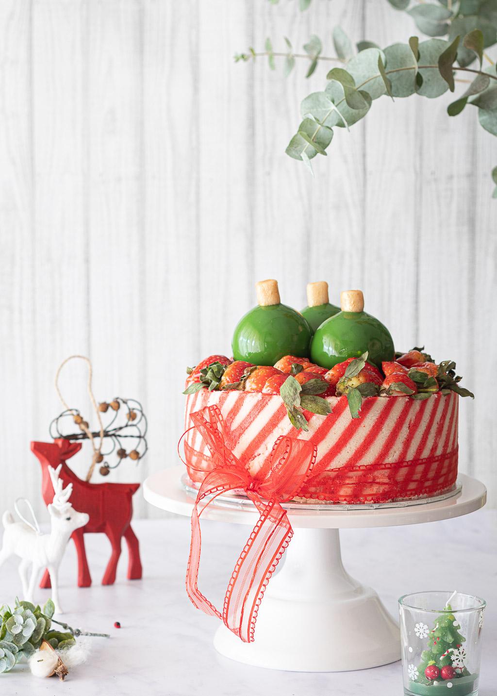 Gâteau de boules de Noël